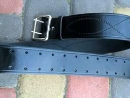 Ремень офицерский кожаный коричневый 50мм латунь