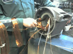 Ремонт электродвигателей марок : АИР, 4АМ, 5AM, MTM, MTF. ..