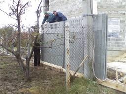 Ремонт еврозабора, замена плит и столбов в Запорожье