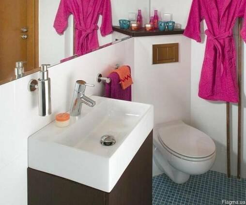 Ремонт ванной и туалета (сантехник, электрик, отделка)