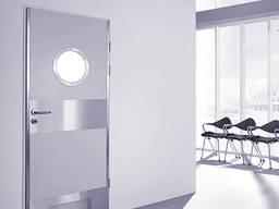 Рентгенозащитные двери с окном разных размеров