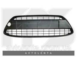 Решетка бампера Ford Fiesta 09-13 без отверстий под рамку. ..