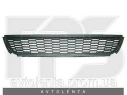 Решетка бампера VW Polo V 09-15 хетчбек, средняя, черная. ..