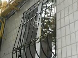 """Металлическая Решетка на окна вид """"Капля """""""