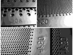 Решето к дробилкам ДКУ d 2. 0 мм\толщина 3 мм 1200х90мм