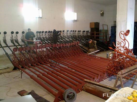 Реставрация металоизделий (решетки, ворота, арки, заборы и др)