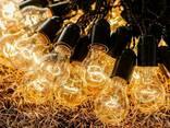 Ретро Гирлянда от 4 до 33 метров черная с лампочками - фото 1
