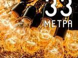 Ретро Гирлянда от 4 до 33 метров черная с лампочками - фото 2
