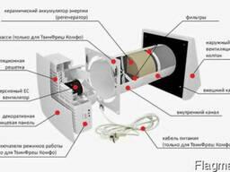Реверсивный проветриватель с рекуперацией тепла и энергии