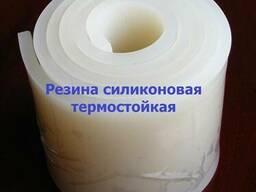 Резина силиконовая термостойкая, рулон, толщина 10.0 мм, шир