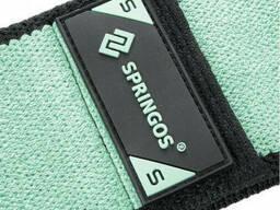 Резинка для фитнеса и спорта тканевая Springos Hip Band зеленый Size S FA0113 SKL41-250633