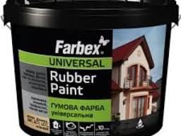 Резиновая краска Farbex Universal Rubber Paint 12кг. крыша, цокл, фасад