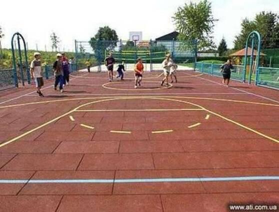 Резиновая плитка для детских площадок | Доставка по Украине