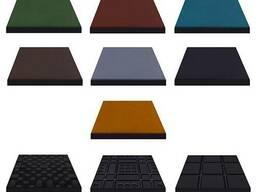 Тротуарная плитка из резиновой крошки 470х470мм; 500х500мм