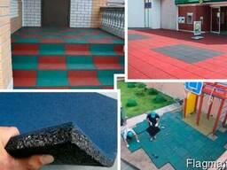 Резиновая плитка для спортивной и детской площадки 40мм