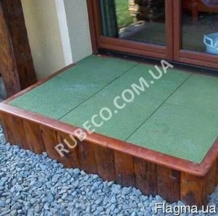 Резиновые плиты 500х500мм. Универсальное напольное покрытие