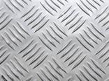 Лист рифлёный алюминиевый АД0 - фото 1
