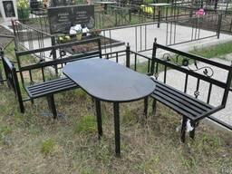 Ритуальные столы лавки из металла. Броневик Днепропетровск.