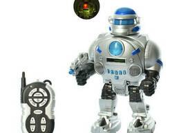 Робот на радиоуправлении 9895, серо-голубой