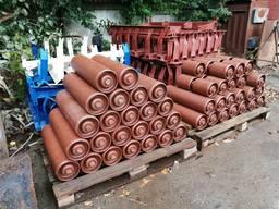 Ролики конвеєрні металеві, штампований корпус кріплення D 127, 152, 159