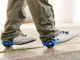 Светящиеся ролики на кроссовки Флешин роллер. Оригинал.