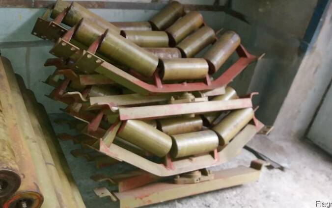 Роликоопора конвейерная поворотная (самоцентрирующая) 800 мм