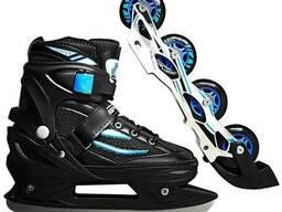 Роликовые коньки SportVida 4 в 1 SV-LG0028 Size 31-34 Black-Blue SKL41-227430