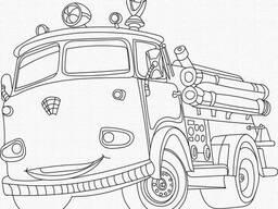"""Роспись на холсте. Art Craft """"Пожарная машина"""" 25х30 см (15520-AC)"""