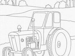 """Роспись на холсте. Art Craft """"Трактор"""" 25х30 см (15517-AC)"""