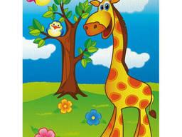 """Роспись по холсту. Идейка """"Весёлый жирафик"""" 18*24см (7100/1)"""