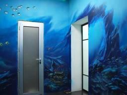 Роспись стен в интерьере. Заказ на художественную роспись