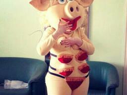 Ростовая кукла свинка. Пошив ростовых кукол