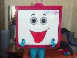 Ростовая кукла телевизор, изготовление ростовых кукол