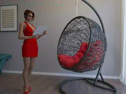 Ротанговое кресло  подвесное Натали (кокон) для дома. ..