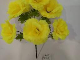 Роза искусственная 6 бутонов