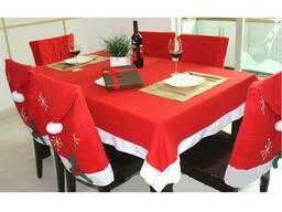 Рождественский набор для украшения стола (скатерть на Новый