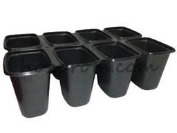 Розсадник, касети з різною кількістю осередків і піддонами