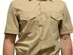 Рубашка бежевая с коротким рукавом