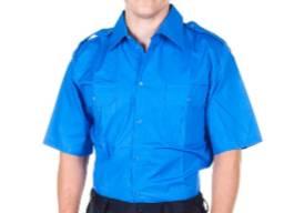 Рубашка форменная голубая с коротким рукавом