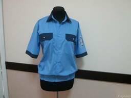 Рубашка форменная на резинке с контрастной отделкой, сорочка