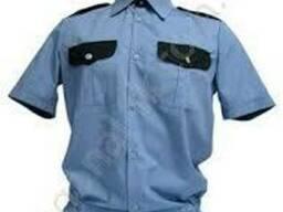Рубашка комбинированная, для охранника, форма