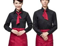 "Рубашка официанта с галстуком ""Токио"" (мужские и женские)"