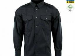 M-Tac Рубашка Police Lite Flex рип-стоп черная