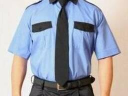 Рубашка форменная с коротким рукавом для охраны, голубая