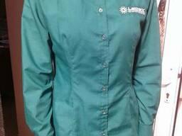 Рубашка женская с логотипом,для промоакций, пошив под заказ
