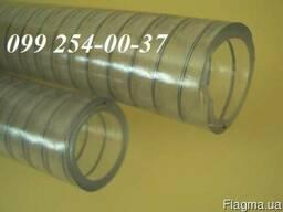 Рукав ПВХ пищевой с металлической спиралью