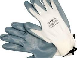 Рукавиці робочі біло-сірі YATO
