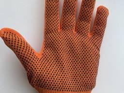 Рукавиці жіночі робочі оранжеві. Перчатки