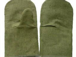 Рукавицы брезентовые с двумя наладонниками, огнестойкие