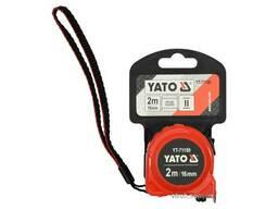 Рулетка YATO 2 м x 16 мм зі сталевою стрічкою і нейлоновим покриттям і подвійним. ..